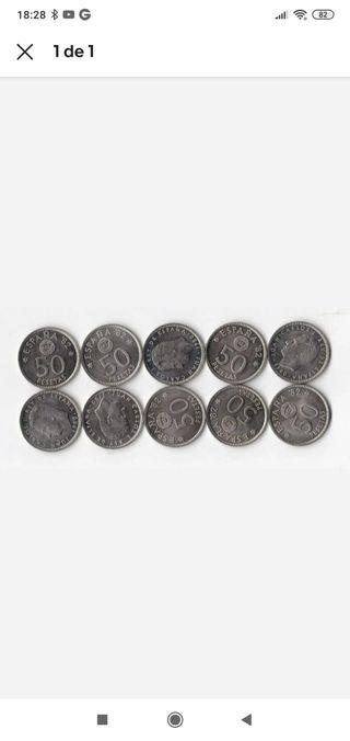 Lote de 10 monedas 1980