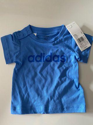 Camiseta bebé niño Adidas, talla 3 meses, nueva!!