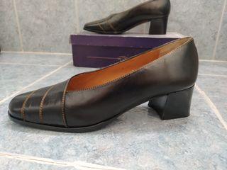 zapato piel mujer negro