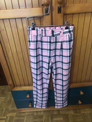 Pantalón de cuadros rosa
