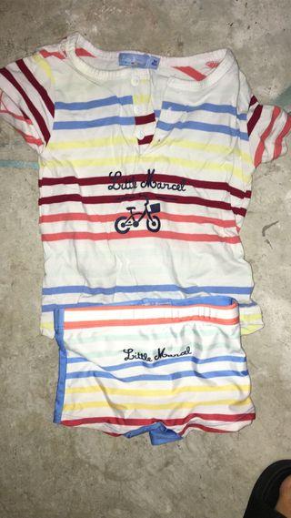 Conjunto bañador camiseta