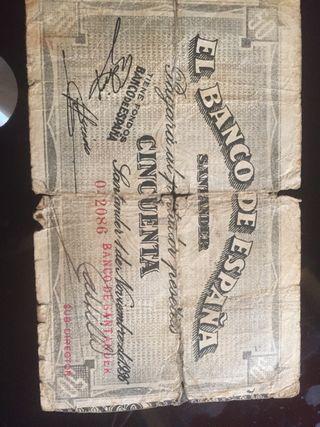 50 pesetas 1936