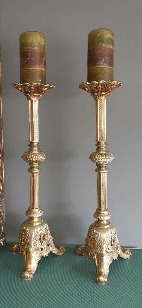 Torcheros candelabros Siglo XIX