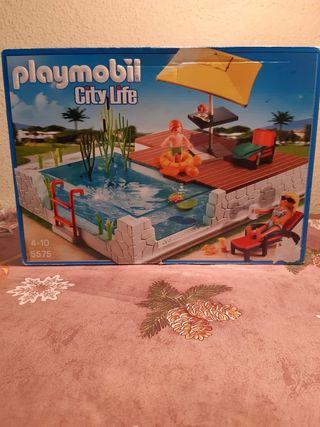 PLAYMOBIL- Piscina con terraza