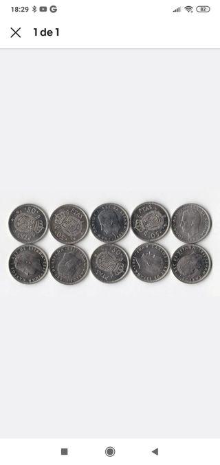 Lote 10 monedas 1982