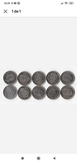 Lote 10 monedas 1983