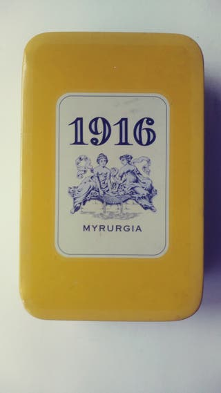 MYRURGIA 1916 CAJA DE LATA