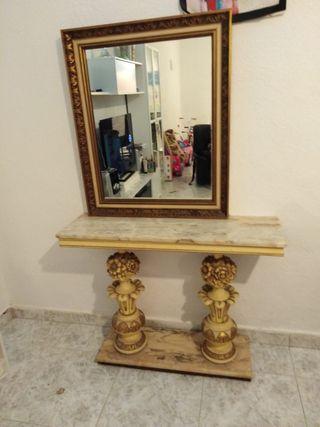 Recibidor marmol y espejo vintage