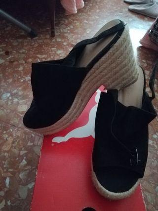 zapato de esparto