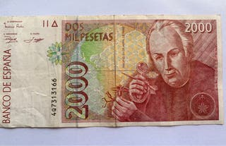 Billete 2000 pesetas Año 1992