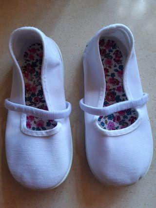 Zapatillas lona blancas n°25