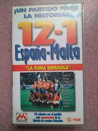 Partido fútbol histórico España-Malta