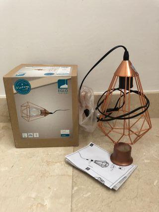 Lámpara estilo Vintage diamante color cobre