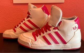 Zapatillas Bota Adidas Retro blanca-rosa