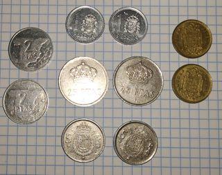 Lote 10 monedas de pesetas antiguas