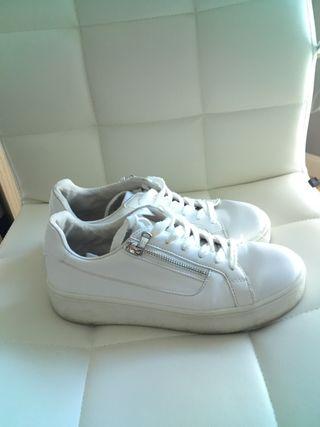 Zapatillas doble suela blanca