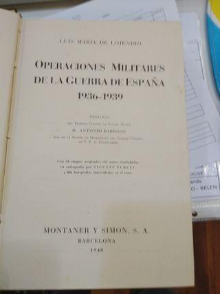 OPERACIONES MILITARES DE LA GUERRA DE ESPAÑA