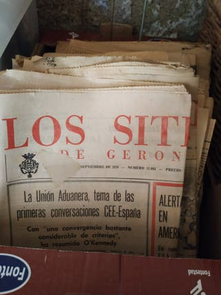periódicos antigüos