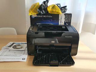 Impresora láser HP LaserJet Pro P1102w + 4 tóner