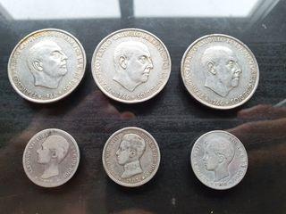 Lote de monedas de plata