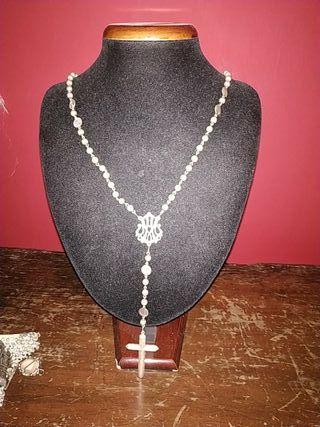maravilloso rosario de plata