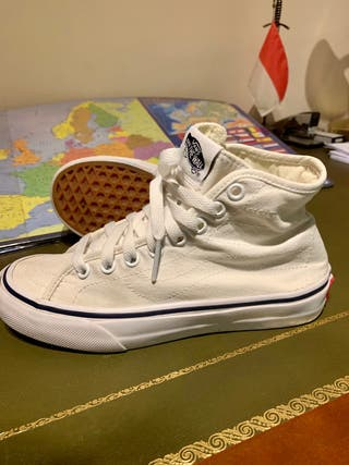 Zapatillas Vans blancas niña 34,5
