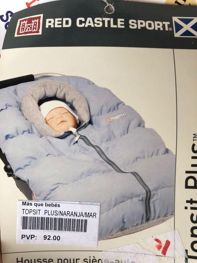 Saco para envolver al bebé color naranja