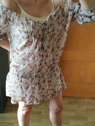 vestido/blusa gasa flores