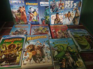 Lote de DVDs de dibujos animados(como nuevos)