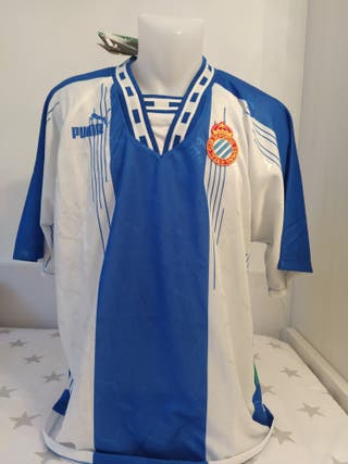 Camiseta fútbol Espanyol 94-95. Con etiquetas