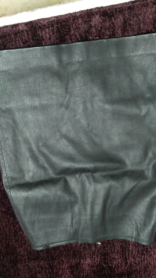 falda de piel de tubo