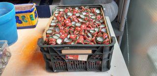 3000 chapas coronas placas cerveza Mahou