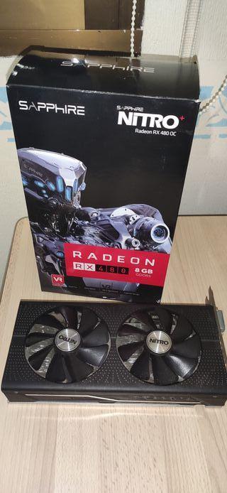 Tarjeta gráfica Sapphire ATI Radeon RX480 OC 8GB