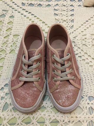 Zapatillas glitter, número 29