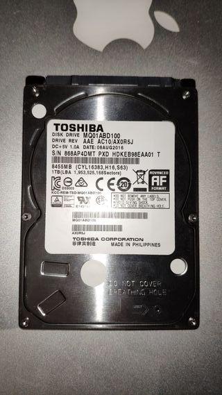 """Disco Duro 2.5"""" 1000Gb Toshiba"""