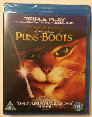 Película Puss in boots Blu-ray y DVD