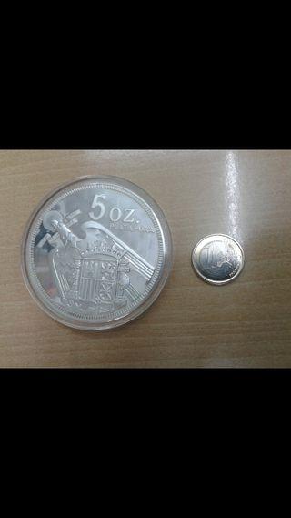 moneda medalla 5 OZ PLATA PURA