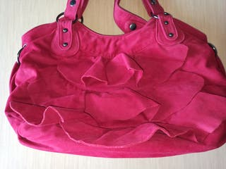 bolso rojo volantes