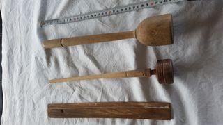 Utensilios madera antiguos