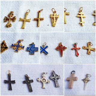 Coleccion colgante cruz crucifijo NUEVO A ESTRENAR