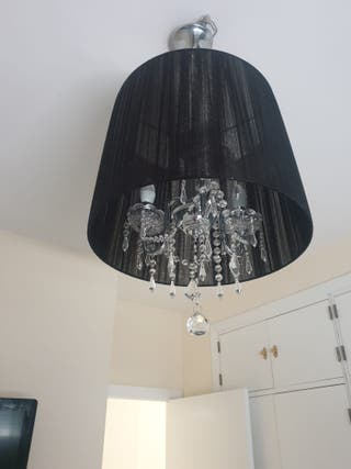 lámpara de diseño gotas, me costó 140