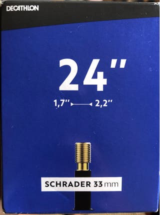 "Regalo cámara de aire 24"" SCHRADER 33mm"
