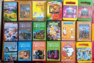 lote de 18 películas, cuentos y dibujos infantiles