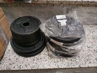 Discos pesas kit conjunto de 22 kg nuevo oferta