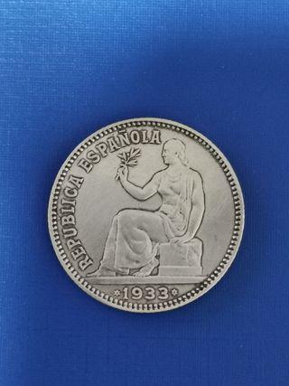 peseta de plata II Republica 1933*4