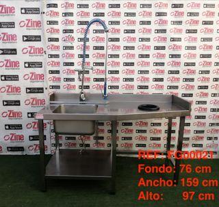 REF: FG00021 Fregadero con grifo y agujero
