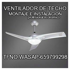 ventilador para techo-lo instalo