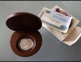 Moneda PLATA 1500 PTAS. milenio