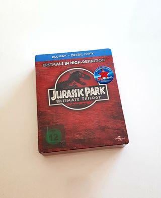 Steelbook bluray JURASSIC PARK TRILOGIA
