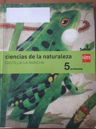 libro ciencias de la naturaleza 5º de primaria SM